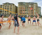 9 November 2017; Chris Barrett as the Ireland International Rules Squad play a game of Volleyball at Glenelg Beach, Adelaide, Australia. Photo by Ray McManus/Sportsfile