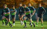 9 November 2017; Sean O'Brien, 3rd from right, during Ireland rugby squad training at Carton House in Maynooth, Kildare. Photo by Brendan Moran/Sportsfile