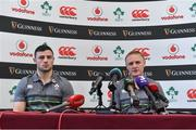 9 November 2017; Head coach Joe Schmidt with Robbie Henshaw during Ireland squad press Conference at Carton House in Maynooth, Kildare. Photo by Matt Browne/Sportsfile