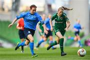 5 November 2017; Dearbhaile Beirne of UCD Waves in action against Katie McCarthy of Cork City WFC during the Continental Tyres FAI Women's Cup Final match between Cork City WFC and UCD Waves at the Aviva Stadium in Dublin. Photo by Ramsey Cardy/Sportsfile
