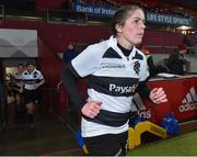 10 November 2017; Captain Fiona Coghlan of Barbarians RFC leads her team out for the match against Munster at the Women's Representative Match match between Munster and Barbarians RFC at Thomond Park in Limerick. Photo by Matt Browne/Sportsfile