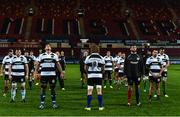 10 November 2017; Barbarians RFC players lead by Willie Britz and Donncha O'Callaghan stand in the memory of Anthony Foley before the Representative Match between Barbarians RFC and Tonga at Thomond Park in Limerick. Photo by Matt Browne/Sportsfile