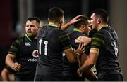 11 November 2017; CJ Stander of Ireland is congratulated by team mates Jacob Stockdale, left and Peter O'Mahony after winning a penalty for his side during the Guinness Series International match between Ireland and South Africa at the Aviva Stadium in Dublin. Photo by Eóin Noonan/Sportsfile