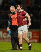 11 November 2017; Cormac O'Doherty of Slaughtneil is helped off the field in the first half during the AIB Ulster GAA Football Senior Club Championship Semi-Final match between Kilcar and Slaughtneil at Healy Park in Omagh, Tyrone. Photo by Oliver McVeigh/Sportsfile
