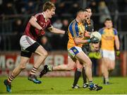 11 November 2017; Barry McGinley of Kilcar in action against Brendan Rodgers of Slaughtneil during the AIB Ulster GAA Football Senior Club Championship Semi-Final match between Kilcar and Slaughtneil at Healy Park in Omagh, Tyrone. Photo by Oliver McVeigh/Sportsfile