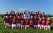 12 November 2017; The Galway team ahead of the All Ireland U21 Ladies Football Final match between Mayo and Galway at St. Croans GAA Club in Keelty, Roscommon. Photo by Sam Barnes/Sportsfile