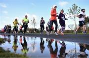 12 November 2017; Runners during the Remembrance Run 5K 2017 at Phoenix Park in Dublin. Photo by David Fitzgerald/Sportsfile