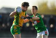 12 November 2017; Colin Brady of Corofin in action against Darragh Sheehy of St Brigid's during the AIB Connacht GAA Football Senior Club Championship Semi-Final match between Corofin and St Brigid's at Tuam Stadium in Tuam, Galway. Photo by Brendan Moran/Sportsfile