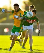 12 November 2017; Michael Lundy of Corofin in action against Eddie Nolan of St Brigid's during the AIB Connacht GAA Football Senior Club Championship Semi-Final match between Corofin and St Brigid's at Tuam Stadium in Tuam, Galway. Photo by Brendan Moran/Sportsfile