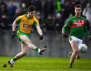 12 November 2017; Ian Burke of Corofin scores his side's first goal during the AIB Connacht GAA Football Senior Club Championship Semi-Final match between Corofin and St Brigid's at Tuam Stadium in Tuam, Galway. Photo by Brendan Moran/Sportsfile