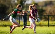 12 November 2017; Louise Ward of Galway in action against Rebecca O'Malley of Mayo during the All Ireland U21 Ladies Football Final match between Mayo and Galway at St. Croans GAA Club in Keelty, Roscommon. Photo by Sam Barnes/Sportsfile