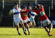 12 November 2017; Diarmuid Connolly of St Vincent's in action against Damien Power and Theo Smith of Rathnew during the AIB Leinster GAA Football Senior Club Championship Quarter-Final match between Rathnew and St Vincent's at Joule Park in Aughrim, Wicklow. Photo by Matt Browne/Sportsfile
