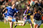 12 November 2017; Paul O'Connor of Cavan Gaels in action against Shane McGullion of Derrygonnelly Harps during the AIB Ulster GAA Football Senior Club Championship Semi-Final match between Cavan Gaels and Derrygonnelly Harps at St Tiernach's Park in Clones, Monaghan. Photo by Oliver McVeigh/Sportsfile