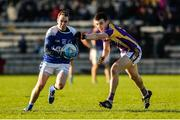 12 November 2017; Niall Smyth of Cavan Gaels in action against Garvan Jones of Derrygonnelly Harps during the AIB Ulster GAA Football Senior Club Championship Semi-Final match between Cavan Gaels and Derrygonnelly Harps at St Tiernach's Park in Clones, Monaghan. Photo by Oliver McVeigh/Sportsfile