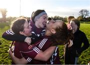 12 November 2017; Galway players celebrate following the All Ireland U21 Ladies Football Final match between Mayo and Galway at St. Croans GAA Club in Keelty, Roscommon. Photo by Sam Barnes/Sportsfile