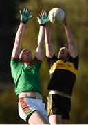 12 November 2017; Daithi Casey of Dr Crokes in action against Keith King of Kilmurry-Ibrickane during the AIB Munster GAA Football Senior Club Championship Semi-Final match between Dr Crokes and Kilmurry-Ibrickane at Dr. Crokes GAA pitch in Lewis Road, Killarney, Kerry. Photo by Diarmuid Greene/Sportsfile