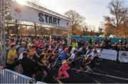 12 November 2017; A general view during the start of Remembrance Run 5K 2017 at Phoenix Park in Dublin. Photo by Tomás Greally/Sportsfile