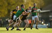 12 November 2017; Shane Hickey of Kilmurry-Ibrickane in action against Colm Cooper of Dr Crokes during the AIB Munster GAA Football Senior Club Championship Semi-Final match between Dr Crokes and Kilmurry-Ibrickane at Dr. Crokes GAA pitch in Lewis Road, Killarney, Kerry. Photo by Diarmuid Greene/Sportsfile
