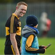 12 November 2017; Colm Cooper of Dr Crokes in conversation with Ben Ryan, aged 11, from Kildare, after the AIB Munster GAA Football Senior Club Championship Semi-Final match between Dr Crokes and Kilmurry-Ibrickane at Dr. Crokes GAA pitch in Lewis Road, Killarney, Kerry. Photo by Diarmuid Greene/Sportsfile