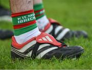 12 November 2017; A detailed view of the boots of Evan Talty of Kilmurry-Ibrickane after the AIB Munster GAA Football Senior Club Championship Semi-Final match between Dr Crokes and Kilmurry-Ibrickane at Dr. Crokes GAA pitch in Lewis Road, Killarney, Kerry. Photo by Diarmuid Greene/Sportsfile