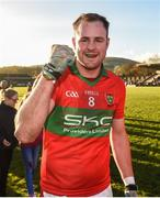 12 November 2017; James Stafford of Rathnew celebrates after the AIB Leinster GAA Football Senior Club Championship Quarter-Final match between Rathnew and St Vincent's at Joule Park in Aughrim, Wicklow. Photo by Matt Browne/Sportsfile