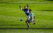 12 November 2017; Éanna O'Connor of Moorefield in action against Brian Mulligan of Portlaoise during the AIB Leinster GAA Football Senior Club Championship Quarter-Final match between Portlaoise and Moorefield at O'Moore Park in Portlaoise, Laois. Photo by Daire Brennan/Sportsfile