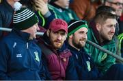 12 November 2017; Suspended Moorefield players David Whyte, left, and Daryl Flynn watch the game from the stand during the AIB Leinster GAA Football Senior Club Championship Quarter-Final match between Portlaoise and Moorefield at O'Moore Park in Portlaoise, Laois. Photo by Daire Brennan/Sportsfile