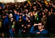 12 November 2017; A spectator shields his eyes from the sun during the AIB Munster GAA Football Senior Club Championship Semi-Final match between Dr Crokes and Kilmurry-Ibrickane at Dr. Crokes GAA pitch in Lewis Road, Killarney, Kerry. Photo by Diarmuid Greene/Sportsfile
