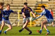 12 November 2017; Stephen McGullion of Derrygonnelly Harps in action against Kevin Meehan and Niall Murray of Cavan Gaels during the AIB Ulster GAA Football Senior Club Championship Semi-Final match between Cavan Gaels and Derrygonnelly Harps at St Tiernach's Park in Clones, Monaghan. Photo by Oliver McVeigh/Sportsfile
