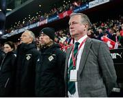 12 November 2017; Northern Ireland manager Michael O'Neill during the FIFA 2018 World Cup Qualifier Play-off 2nd leg match between Switzerland and Northern Ireland at St. Jakob's Park in Basel, Switzerland. Photo by Roberto Bregani/Sportsfile