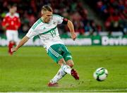 12 November 2017; Jamie Ward of Northern Ireland in action during the FIFA 2018 World Cup Qualifier Play-off 2nd leg match between Switzerland and Northern Ireland at St. Jakob's Park in Basel, Switzerland. Photo by Roberto Bregani/Sportsfile