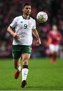 11 November 2017; Shane Long of Republic of Ireland during the FIFA 2018 World Cup Qualifier Play-off 1st Leg match between Denmark and Republic of Ireland at Parken Stadium in Copenhagen, Denmark. Photo by Stephen McCarthy/Sportsfile