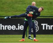 13 November 2017; James McClean, right, and Darren Randolph during Republic of Ireland squad training at the FAI National Training Centre in Abbotstown, Dublin. Photo by Stephen McCarthy/Sportsfile