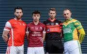 13 November 2017; Hurlers from left, Shane Stapleton of Cuala, Rory O'Connor of St Martin's, Edward Byrne of Mount Leinster Rangers and Peter Healion of Kilcormac - Killoughey during AIB Leinster Club Senior Hurling Championship Semi-Finals Media Day at Croke Park in Dublin. Photo by Piaras Ó Mídheach/Sportsfile