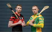 13 November 2017; Mount Leinster Rangers hurler Edward Byrne, left, and Kilcormac - Killoughey hurler Peter Healion during AIB Leinster Club Senior Hurling Championship Semi-Finals Media Day at Croke Park in Dublin. Photo by Piaras Ó Mídheach/Sportsfile