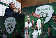 13 November 2017; Republic of Ireland manager Martin O'Neill and David Meyler, right, during a press conference at the FAI National Training Centre in Abbotstown, Dublin. Photo by Stephen McCarthy/Sportsfile
