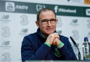 13 November 2017; Republic of Ireland manager Martin O'Neill during a press conference at the FAI National Training Centre in Abbotstown, Dublin. Photo by Stephen McCarthy/Sportsfile