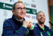 13 November 2017; Republic of Ireland manager Martin O'Neill and David Meyler during a press conference at the FAI National Training Centre in Abbotstown, Dublin. Photo by Stephen McCarthy/Sportsfile