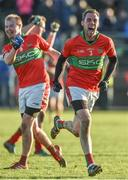 12 November 2017; Theo Smith, ,left, and Damien Power of Rathnew celebrate after the AIB Leinster GAA Football Senior Club Championship Quarter-Final match between Rathnew and St Vincent's at Joule Park in Aughrim, Wicklow. Photo by Matt Browne/Sportsfile