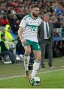 12 November 2017; Stuart Dallas of Northern Ireland during the FIFA 2018 World Cup Qualifier Play-off 2nd leg match between Switzerland and Northern Ireland at St. Jakob's Park in Basel, Switzerland. Photo by Roberto Bregani/Sportsfile