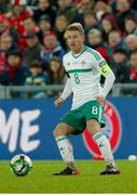 12 November 2017; Steven Davis of Northern Ireland in action during the FIFA 2018 World Cup Qualifier Play-off 2nd leg match between Switzerland and Northern Ireland at St. Jakob's Park in Basel, Switzerland. Photo by Roberto Bregani/Sportsfile
