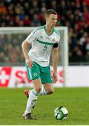 12 November 2017; Jonny Evans of Northern Ireland in action during the FIFA 2018 World Cup Qualifier Play-off 2nd leg match between Switzerland and Northern Ireland at St. Jakob's Park in Basel, Switzerland. Photo by Roberto Bregani/Sportsfile
