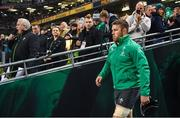 11 November 2017; Sean O'Brien of Ireland walks out to earn his 50th cap for Ireland during the Guinness Series International match between Ireland and South Africa at the Aviva Stadium in Dublin. Photo by Brendan Moran/Sportsfile