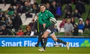 11 November 2017; Jonathan Sexton of Ireland warms up prior to the Guinness Series International match between Ireland and South Africa at the Aviva Stadium in Dublin. Photo by Brendan Moran/Sportsfile
