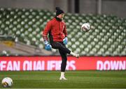 13 November 2017; Kasper Schmeichel during Denmark squad training at Aviva Stadium in Dublin. Photo by Stephen McCarthy/Sportsfile