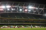 13 November 2017; Denmark players during squad training at Aviva Stadium in Dublin. Photo by Stephen McCarthy/Sportsfile