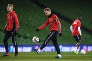 13 November 2017; Christian Eriksen during Denmark squad training at Aviva Stadium in Dublin. Photo by Stephen McCarthy/Sportsfile