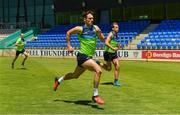 14 November 2017; Niall Murphy and Enda Smith, right, during a fitness test at the Ireland International Rules Squad training at Bendigo Bank Stadium, Mandurah, Australia. Photo by Ray McManus/Sportsfile