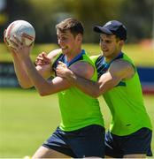 14 November 2017; Conor Sweeney is tackled by Niall Murphy during Ireland International Rules Squad training at Bendigo Bank Stadium, Mandurah, Australia. Photo by Ray McManus/Sportsfile