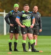 14 November 2017; Players, from left, Rob Kearney, Tadhg Furlong, and Rory Best during Ireland rugby squad training at Carton House in Maynooth, Kildare. Photo by Matt Browne/Sportsfile